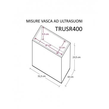 TRUSR400 VASCA ULTRASUONI CON RISCALDATORE