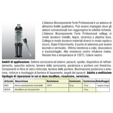 AB25 Adesivo Bicomponente Verniciabile
